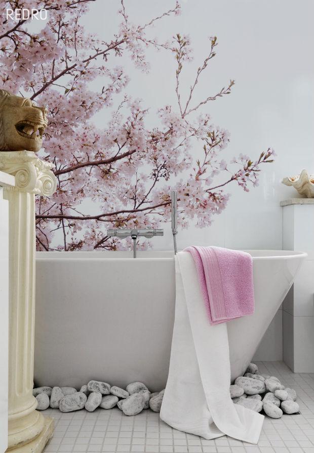 Galeria fototapet w łazience