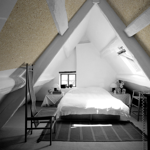 Modern double room under the eaves.