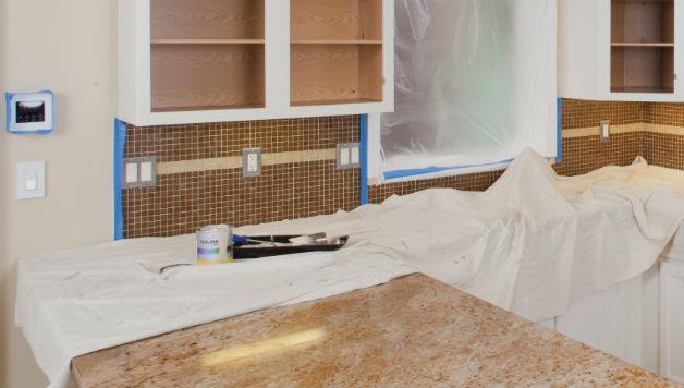 Narzędzia malarskie wielokrotnego użytku - ochronna tkanina malarska, fot.: Richard