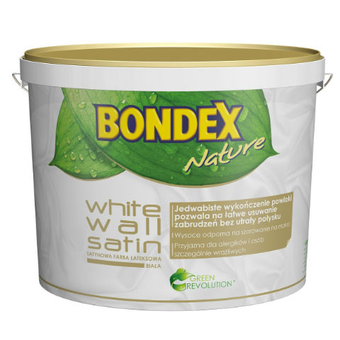 Satynowa emulsja Bondex White Wall Satin