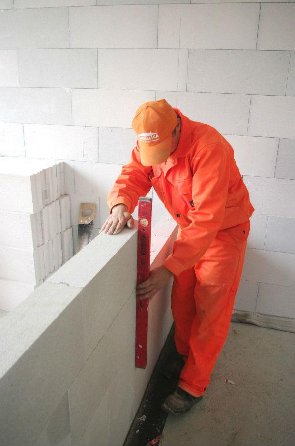 Ścianki działowe z betonu komórkowego