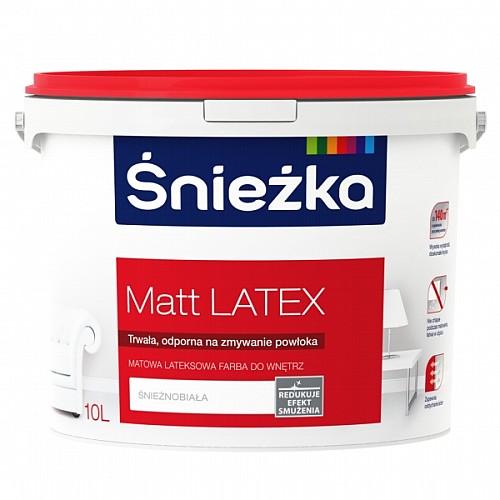 Biała farba Śnieżka Matt Latex, która redukuje efekt smużenia
