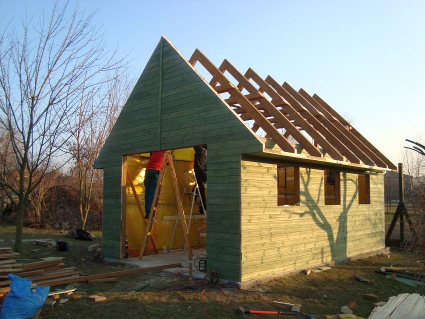 Prace wykończeniowe garaż drewniany
