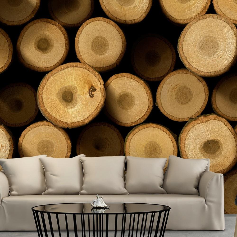 Tapeta z designem drewna